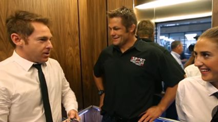 Jase & PJ's World Exclusive Lift Ride With Richie McCaw
