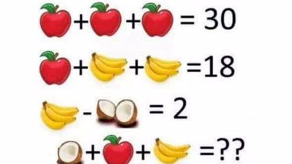 This Fruit Maths Puzzle Is Sending The Internet Loco - Can You Figure It Out?
