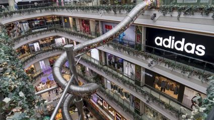 Mall Puts In Five-Storey Speed Slide So You Can Shop Faster