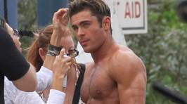 Zac Efron Looks INSANELY RIPPED As He Films Shirtless For Baywatch