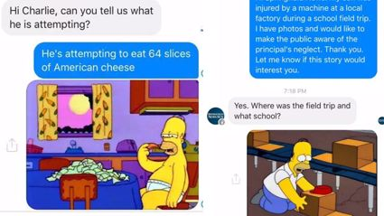 """""""The Simpsons"""" Fans Are Trolling News Stations With Simpsons Memes"""