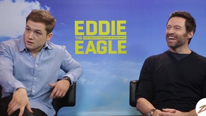 "Hugh Jackman and Taron Egerton Talk About ""Eddie the Eagle"""