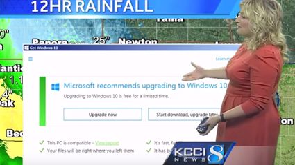 Microsoft Windows 10 Update Interrupts Weather Forecast