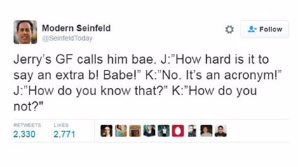 Modern Seinfeld Is the Best Twitter Account Ever