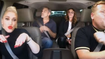 George Clooney & Julia Roberts Join Gwen Stefani in Best Carpool Karaoke Ever