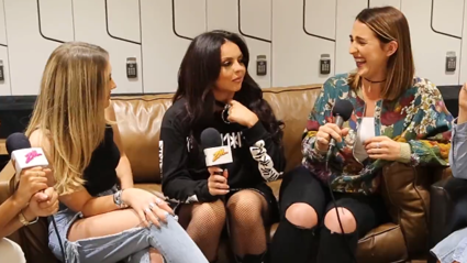 PJ Has Awkward Chat with Little Mix About Chokers