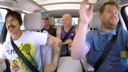 "Red Hot Chili Peppers Take On ""Carpool Karaoke""  With James Corden"