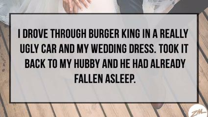 What Weird Thing Did You Do In Your Wedding Dress?