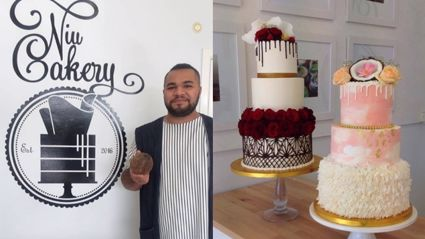 This Kiwi with No Training has People Lining up for His Colourful Cakes