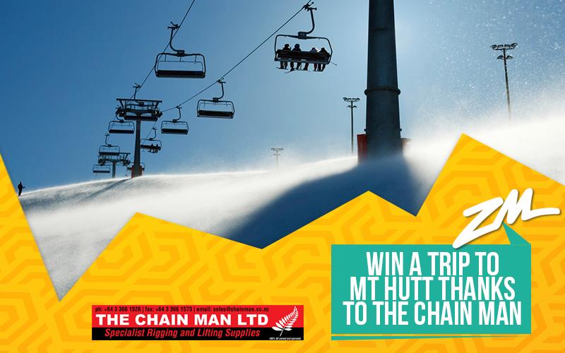 CHRISTCHURCH - Win a Trip To Mt Hutt Thanks to The Chain Man