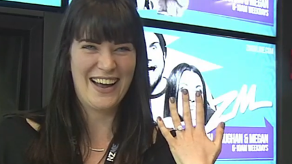Producer Caitlin Is Next Level Obsessed With Megan's Engagement Ring