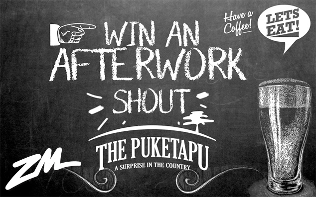 HAWKE'S BAY - Win an After Work Shout at The Puketapu