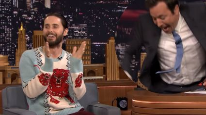 Jared Leto Brings Jimmy Fallon Gift From 'The Joker'