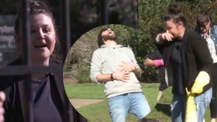 Vaughan's Lion Attack Prank on Megan Ends in Tears