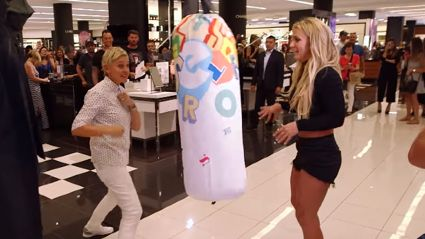 Ellen and Britney Spears Cause A lot of Trouble in A Mall
