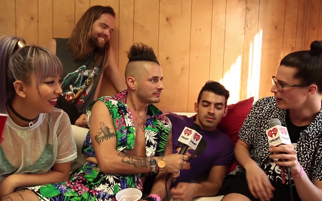 DNCE Talk Fashion and Gifts With Cam at The iHeart Radio Musical Festival