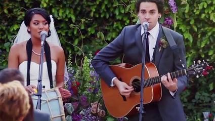 Couple Turns Wedding Vows Into Adorable Song