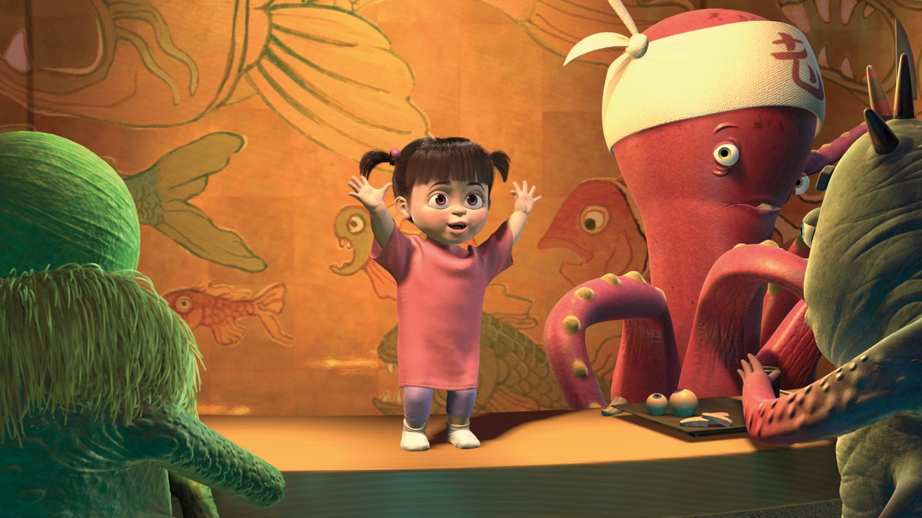 Monsters inc boo singing in the bathroom home design for Monsters inc bathroom scene