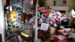 This guy completely transformed a hoarder's house and the results are so satisfying