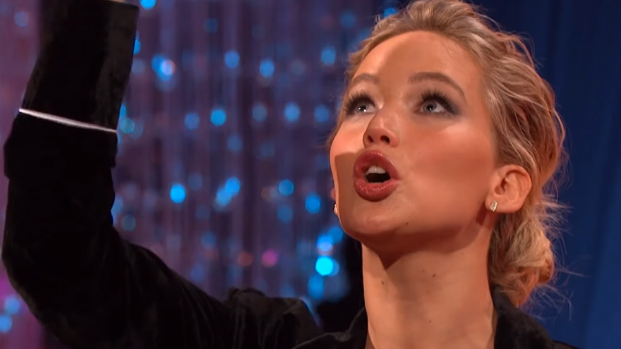 How Jennifer Lawrence nearly killed someone by scratching her butt!