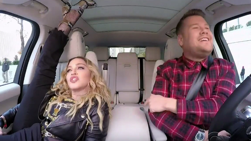 Madonna tells James Corden a secret about Michael Jackson during 'Carpool Karaoke'