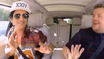 Bruno Mars shares seduction tips and harmonises perfectly on Carpool Karaoke with James Corden