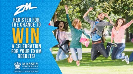 WIN a Celebration For Your Exam Results With Massey University!
