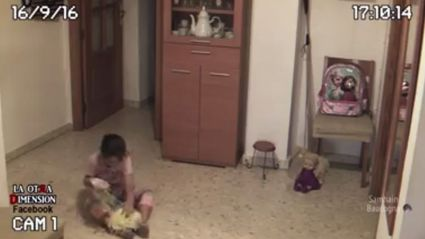 People freak out about 'haunted doll' caught on camera