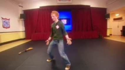 You need to see 17-yr-old Ed Sheeran's dance moves from a public TV audition in 2008