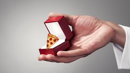 Domino's have released an engagement ring & we're in LOVE