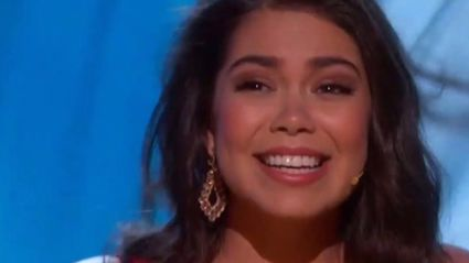 'Moana' star Auli'i Cravalho gets smacked in the head during performance and still kills it