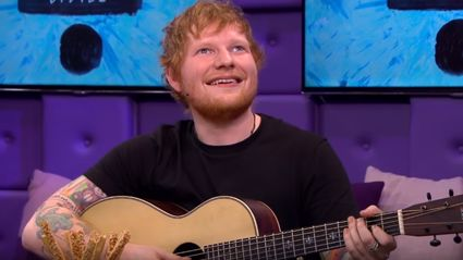 Ed Sheeran proves you can sing any pop song using four chords