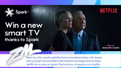 Win A Smart TV and 12 Months Netflix on Spark