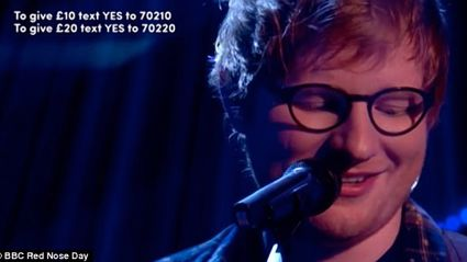 Watch Ed Sheeran forget the lyrics to his own song on live TV