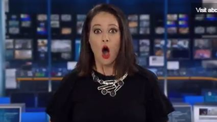 Newsreader gets the shock of her life after she's caught daydreaming on live TV