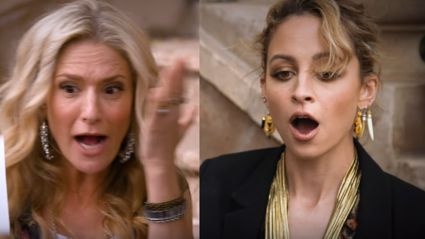 Horrified interviewer accidentally slaps Nicole Richie in the face