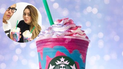 Cam Mansel tries the Unicorn Frappuccino