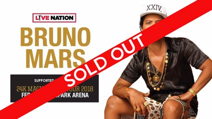 Bruno Mars' NZ shows have already sold out, fourth show announced!
