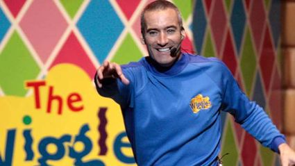 What Blue Wiggle Anthony has been hiding under his skivvie