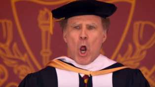OMFG, Will Ferrell sang 'I Will Always Love You' in his uni graduation speech