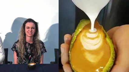 Web girl Ellie tries out the Avo-latte fad: 'I'd probably just take an Instagram pic of it'