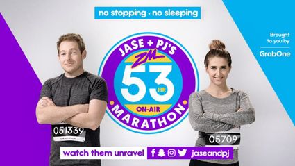 ZM's Jase & PJ Podcast - 53 Hour On Air Marathon Wrap Party