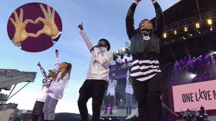 Black Eyed Peas perform 'Where Is The Love?' with Ariana Grande