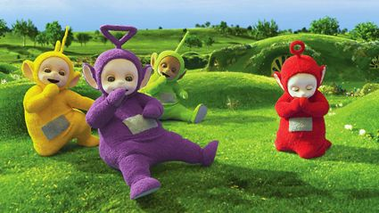 This is what the actors in the Teletubby suits actually look like