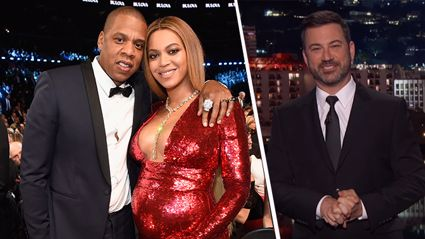 "LOL Jimmy Kimmel shares ""exclusive first photo"" of Beyoncé and Jay-Z's twins"