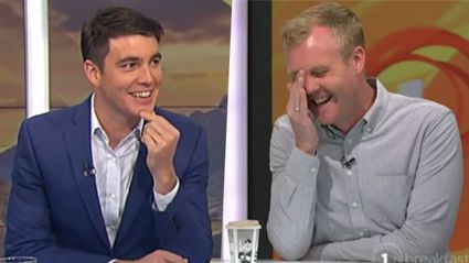 Jack Tame has cheekily thrown Matty Mclean under the bus