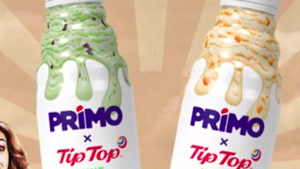 Primo and Tip Top have teamed up to release two new ice cream flavoured Primo's!