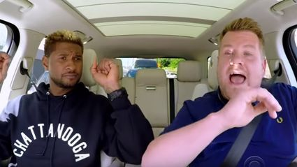 Usher teaching James to dance in Carpool Karaoke is the funniest thing you'll see today