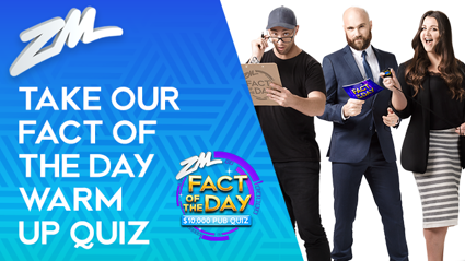 Take our Fact of The Day warm up quiz!