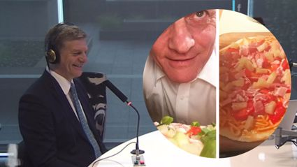Bill English addresses the cheese issue on THAT pizza